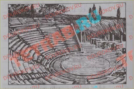 Перед вами план древнегреческого театра главные части здания обозначены цифрами 1 2 3