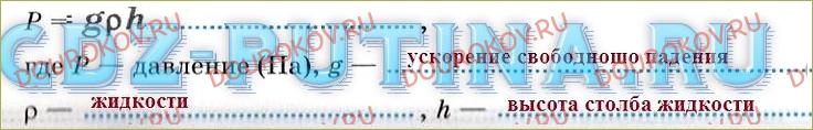 §40. Расчет давления жидкости на дно сосуда - 1